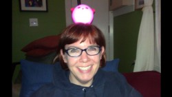 me with an ikea nightlight on my head