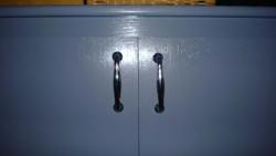 girl cave built in cupboard door hardware rust-oleum metallic