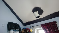painting girl cave ceiling benjamin moore galaxy