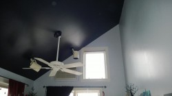 girl cave ceiling painted benjamin moore galaxy