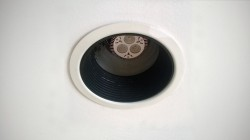recessed can lighting trim original black