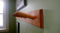 upstairs hall hotdog rack coat rack