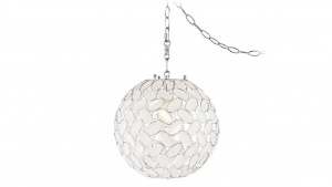 kaia frosted beaded lantern swag pendant for upstairs hall stock photo