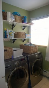 the laundry room was originally painted green