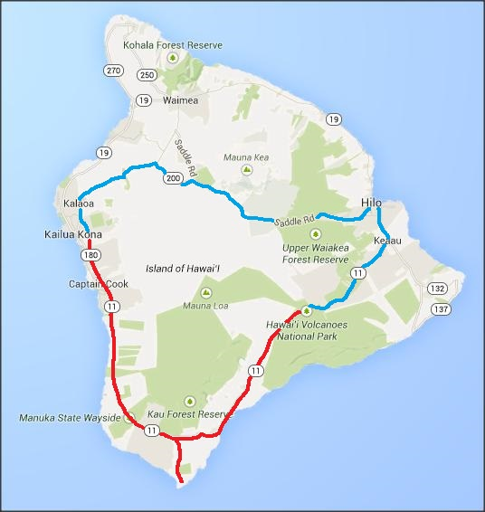 Big Island Hawaii Part Kīlauea Lava ORBITED BY NINE - Road map of hawaii