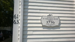 house numbers and historic plaque