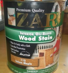 zar interior oil based wood stain in salem maple