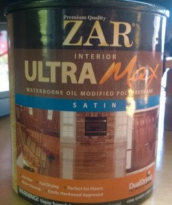 zar interior ultra max waterborne oil modified polyurethane in satin finish
