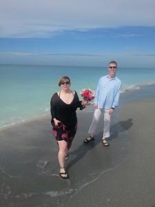 december 2013 beach wedding / vow renewal sanibel captiva FL me and jim