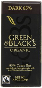 green & black's dark chocolate stock photo