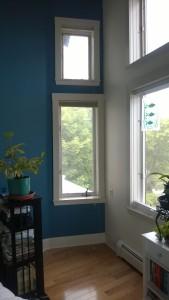 preparing bedroom for deck door, which will replace window