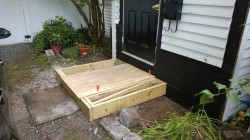 framing the new front stoop