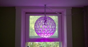 kaia pendant light in upstairs hall window
