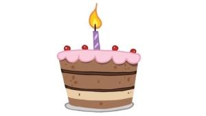 1st blogiversary cake 1 candle
