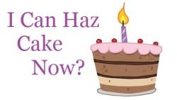 1st blogiversary cake 1 candle i can haz cake now?