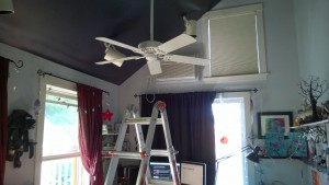 original girl cave ceiling fan