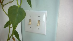 replacing the fan light switch in the bathroom with a timer switch