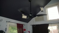 taking the new girl cave ceiling fan for a test drive