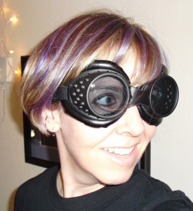 me with purple hair and goggles in 2011