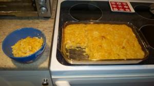 making roasted butternut squash mac n cheese