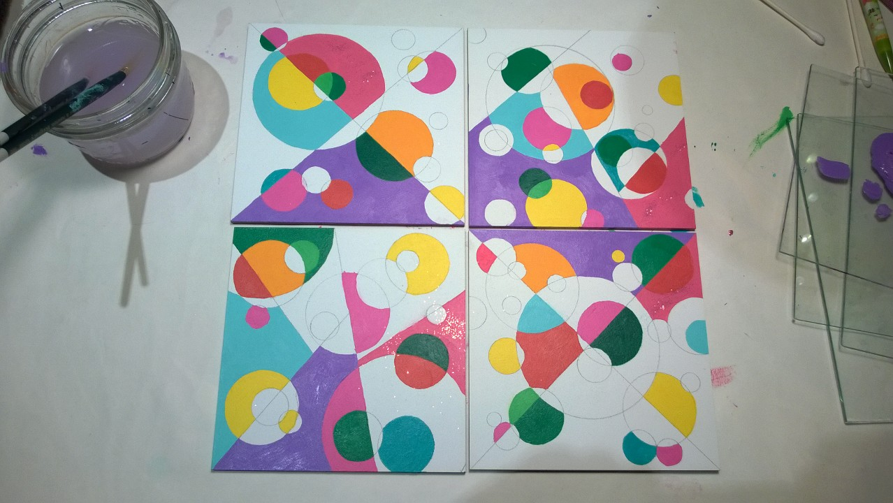 Circle Mosaic Paintings – Part 3