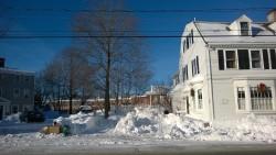 our driveway buried under un-plowable snow during snowmageddon 2015