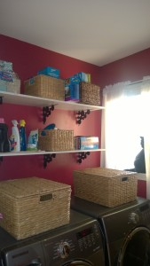 painting the laundry room benjamin moore night flower shelves baskets