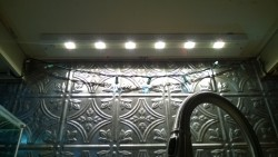 installing home depot 24 inch under cabinet dimmable LED light in kitchen
