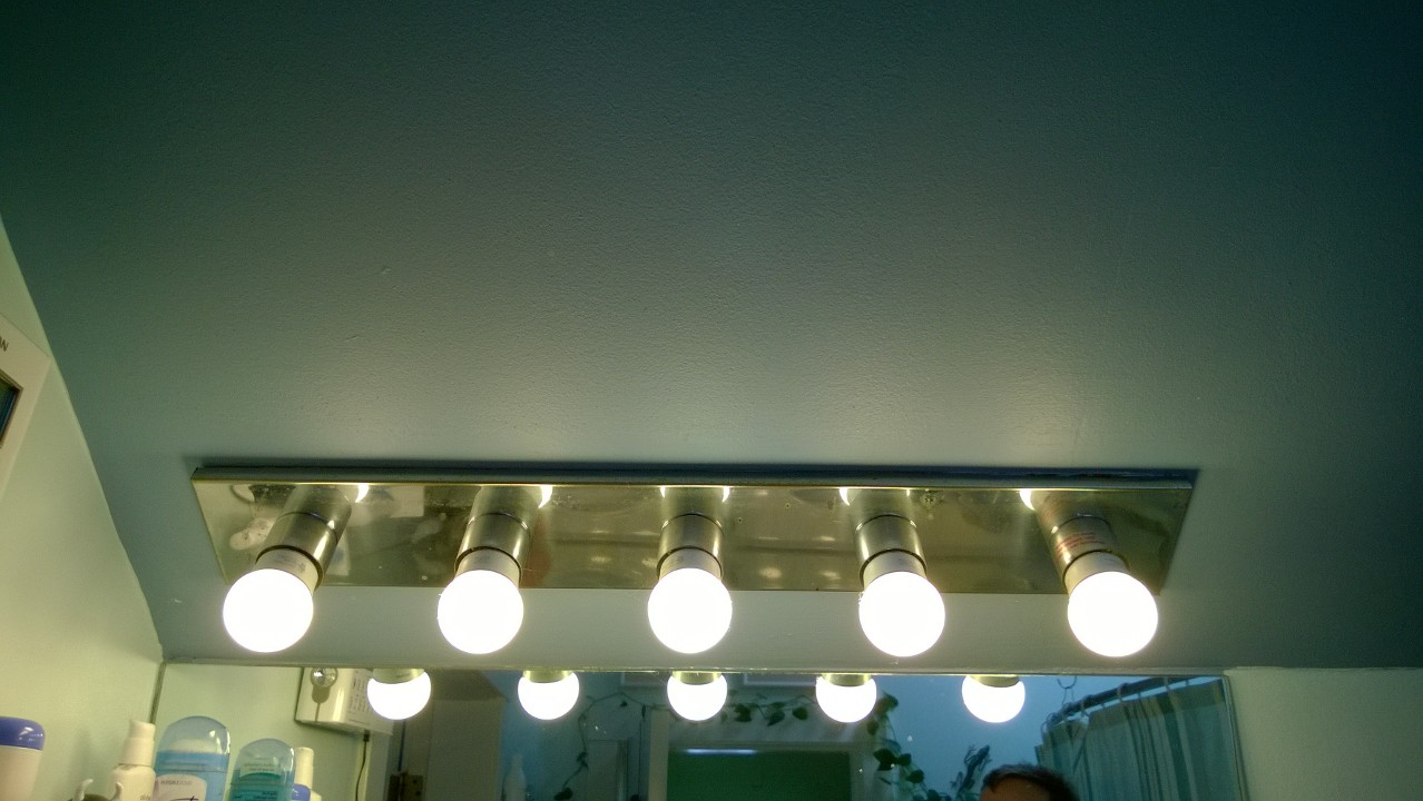 Ugly Bathroom Light Fixtures master bathroom light bar – replaced! – orbitednine dark moons