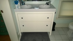 new ikea bathroom vanity with double sinks