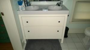 new ikea bathroom vanity with double sinks