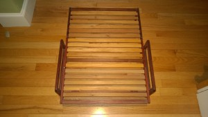miniature futon frame from martha made of bubinga wood from africa