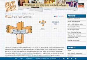 outdoor cat enclosure / catio rigid tie connector webpage