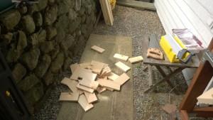 outdoor cat enclosure / catio extra wood from shelf slats
