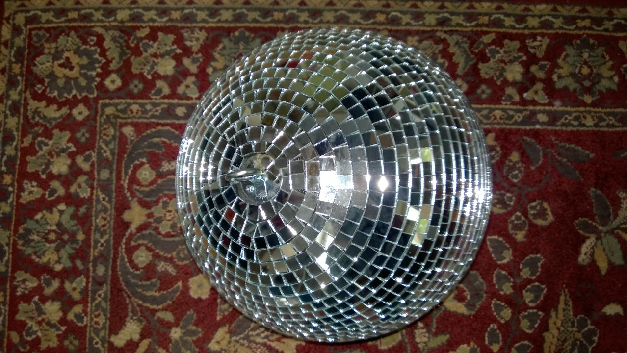 I Disco Ball'd The Upstairs Hall
