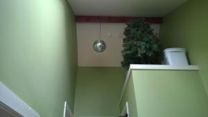 upstairs hall disco ball