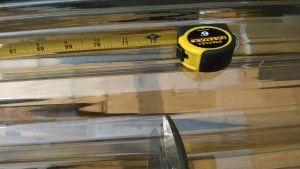 cutting tuftex plastic polycarbonate roofing with snips at lowe's