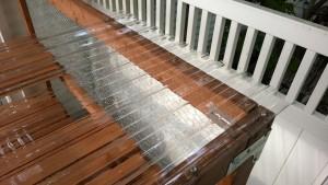 outdoor cat enclosure / catio clear tuftex plastic polycarbonate roofing tiles