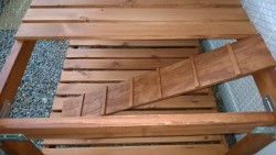 making ramps for bonkers for the outdoor cat enclosure / catio