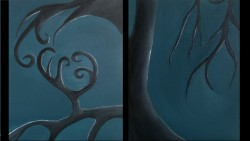 """6 panel art painting project - acrylic on 11X14"""" canvas board"""