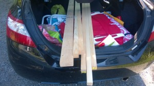 buying wood for the outdoor cat enclosure / catio