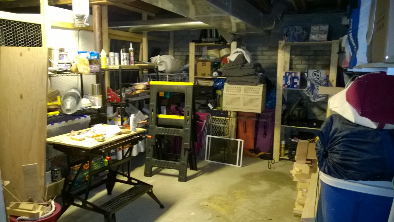 how to clean a cluttered basement