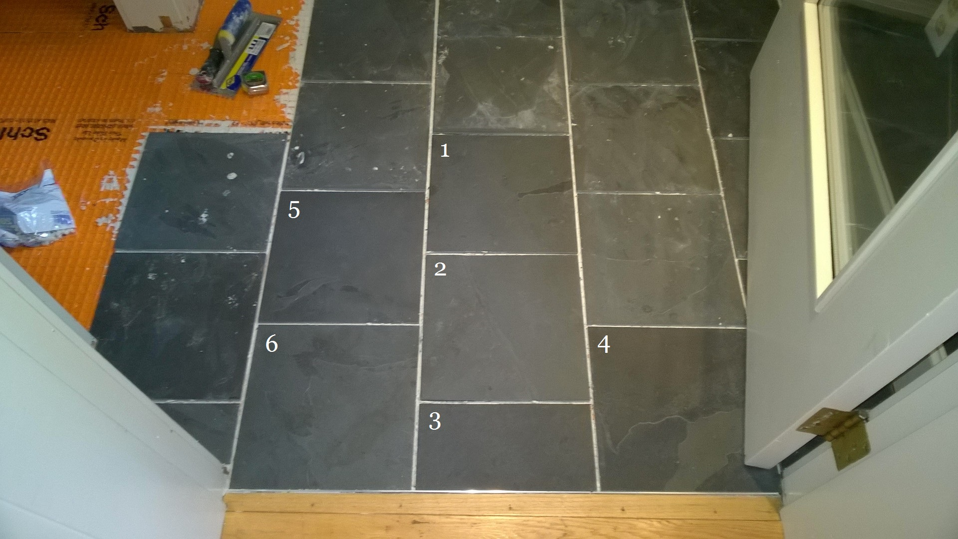 Removing grout from tile floor