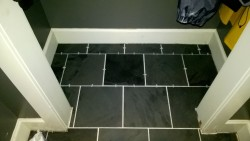 all tiles laid and sealed in front hall