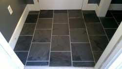 cleaning grout haze off the slate tiles in the front entrance hall and closet