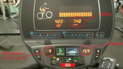 riding the recumbent bike at the ymca