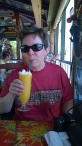 maui hawaii drinking mango smoothies