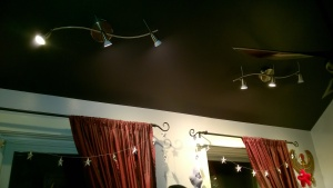 installing new ikea husinge led track lights in the girl cave