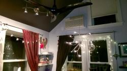 installing ikea husinge & onsjö lighting in the girl cave