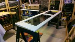 priming the deck screen door